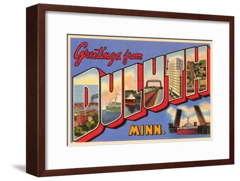 Greetings from Duluth, Minnesota--Framed Art Print