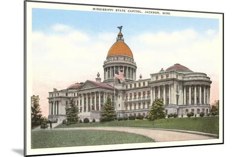 State Capitol, Jackson, Mississippi--Mounted Art Print