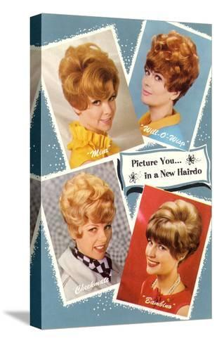 Multiple 60s Hairstyles--Stretched Canvas Print