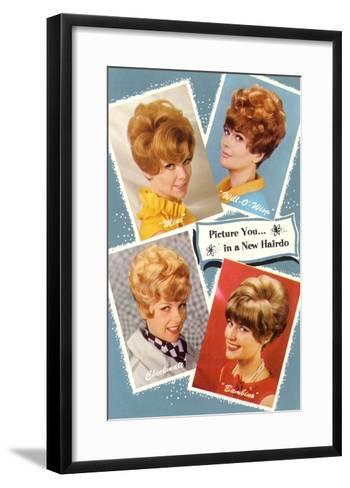 Multiple 60s Hairstyles--Framed Art Print