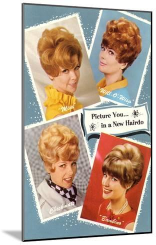 Multiple 60s Hairstyles--Mounted Art Print