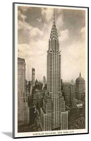 Chrysler Building, New York City--Mounted Art Print