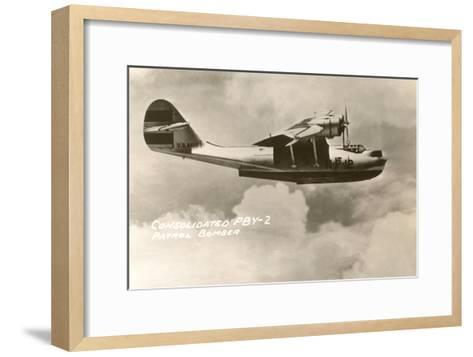Consolidated PBY-2 Navy Patrol Bomber--Framed Art Print