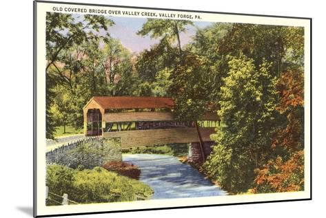 Covered Bridge, Valley Forge, Pennsylvania--Mounted Art Print