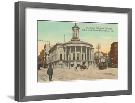 Merchants Old Stock Exchange, Philadelphia, Pennsylvania--Framed Art Print