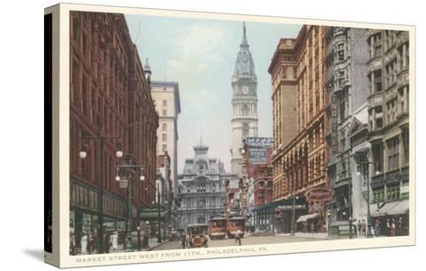 Market Street, Philadelphia, Pennsylvania--Stretched Canvas Print