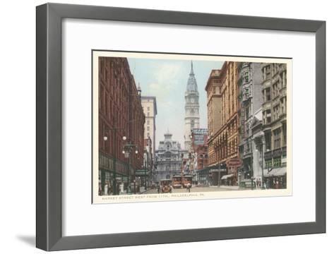 Market Street, Philadelphia, Pennsylvania--Framed Art Print