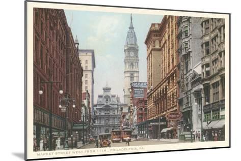 Market Street, Philadelphia, Pennsylvania--Mounted Art Print