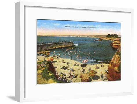 Beach, Cove, La Jolla, California--Framed Art Print
