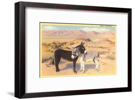 Desert Sweethearts, Nuzzling Burros--Framed Art Print