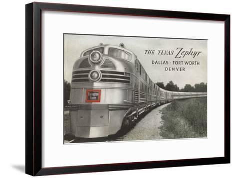 Texas Zephyr, Streamlined Train--Framed Art Print