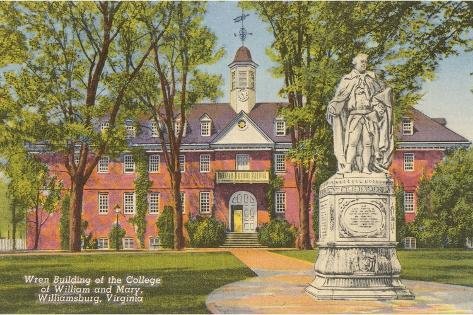 College of William and Mary, Williamsburg, Virginia--Stretched Canvas Print