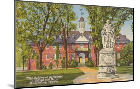College of William and Mary, Williamsburg, Virginia--Mounted Art Print