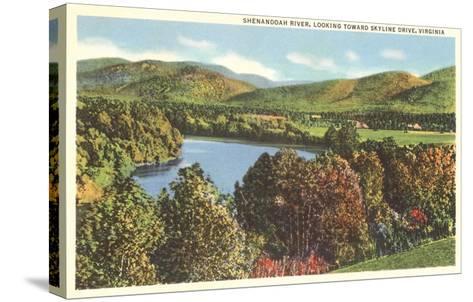 Shenandoah River, Virginia--Stretched Canvas Print