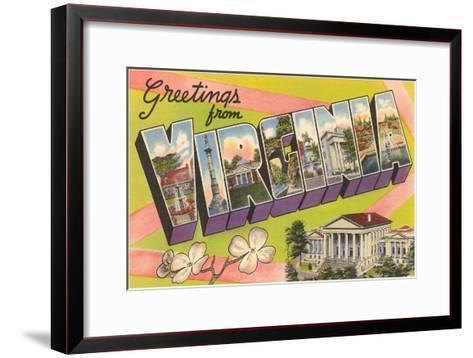 Greetings from Virginia--Framed Art Print