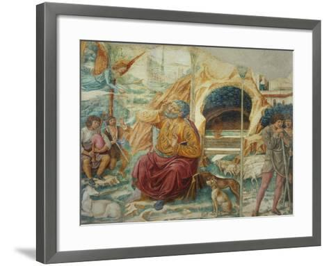Scenes from the Life of Saint Joachim: the Annunciation-Benozzo Gozzoli-Framed Art Print