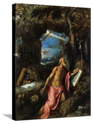 Saint Jerome-Titian (Tiziano Vecelli)-Stretched Canvas Print