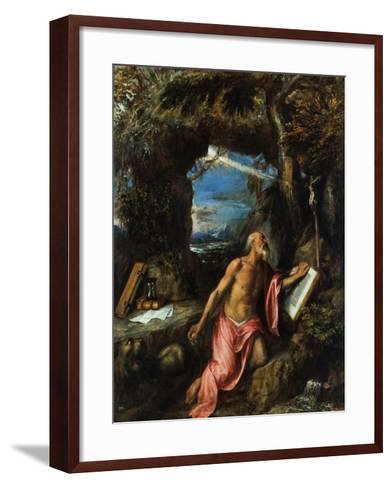Saint Jerome-Titian (Tiziano Vecelli)-Framed Art Print