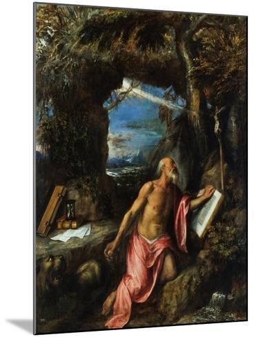 Saint Jerome-Titian (Tiziano Vecelli)-Mounted Giclee Print