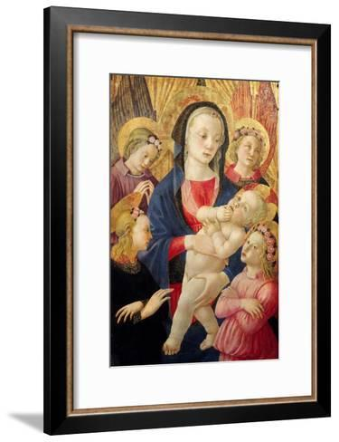 Madonna and Child with Angels- Master Of The Castello Nativity-Framed Art Print