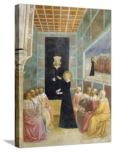 Scenes from the Life of St. Catherine: Saint Catherine's Disputation with the Philosophers-Tommaso Masolino Da Panicale-Stretched Canvas Print