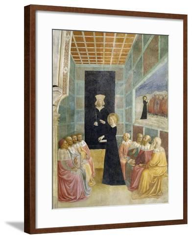Scenes from the Life of St. Catherine: Saint Catherine's Disputation with the Philosophers-Tommaso Masolino Da Panicale-Framed Art Print