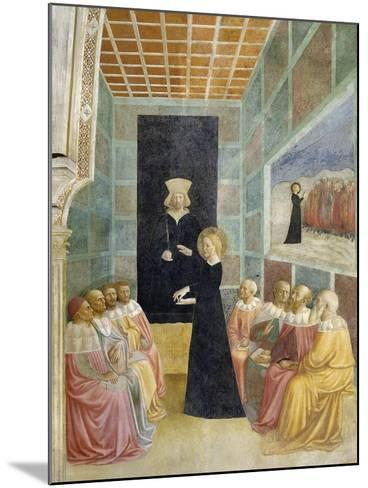 Scenes from the Life of St. Catherine: Saint Catherine's Disputation with the Philosophers-Tommaso Masolino Da Panicale-Mounted Giclee Print