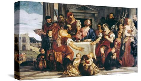 Cena in Emmaus-Paolo Veronese-Stretched Canvas Print