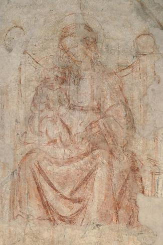 Virgin and Child-Sandro Botticelli-Stretched Canvas Print