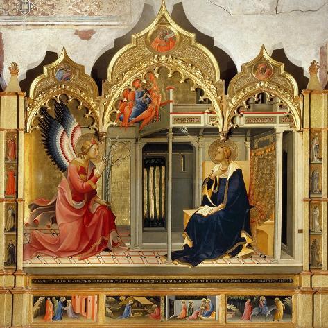 Annunciation-Lorenzo Monaco-Stretched Canvas Print