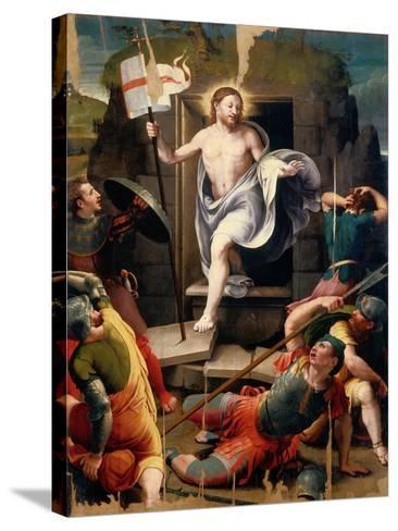 Resurrection-Raffaellino Del Colle-Stretched Canvas Print