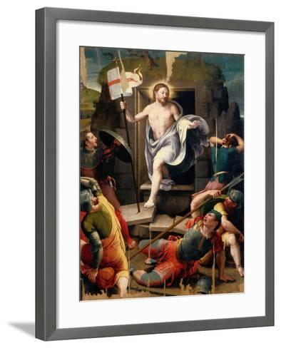 Resurrection-Raffaellino Del Colle-Framed Art Print