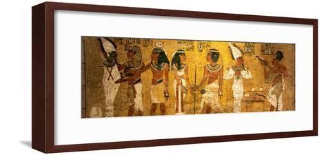 King Tut Tomb Wall, Egypt-Kenneth Garrett-Framed Art Print