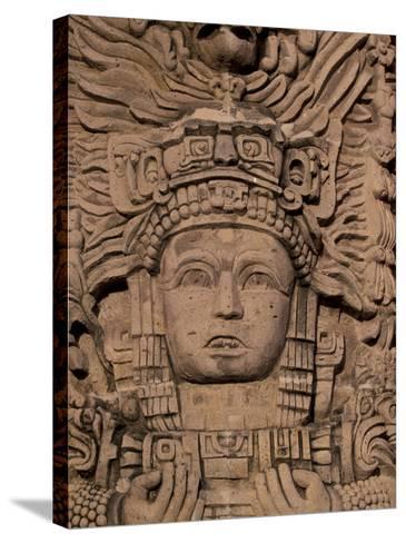 Hotel Mayan Palace, Mayan Sculpture, Puerto Vallarta, Mexico-Walter Bibikow-Stretched Canvas Print