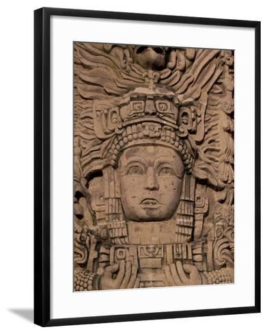 Hotel Mayan Palace, Mayan Sculpture, Puerto Vallarta, Mexico-Walter Bibikow-Framed Art Print