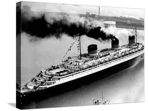 Ship Normandie Leaving Havre--Stretched Canvas Print