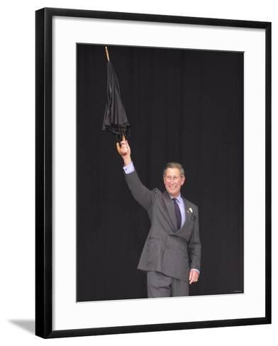 Prince Charles at the Party in the Park Concert, July 2000--Framed Art Print