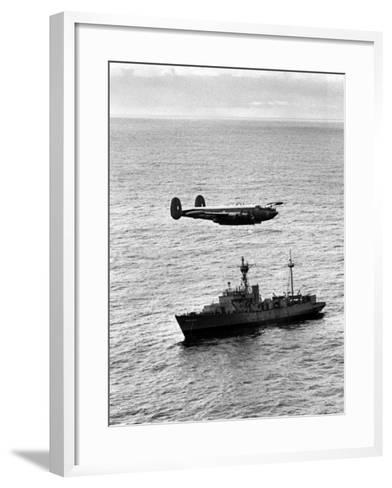 "Drop over Weather Ship ""India"" from Raf Shackleton of 204 Squadron--Framed Art Print"