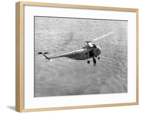 Royal Air Force Coastal Command Rescue Helicopters in Action--Framed Art Print
