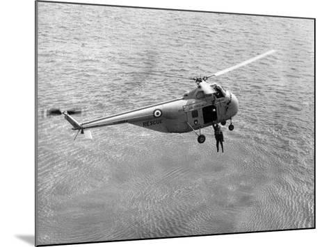 Royal Air Force Coastal Command Rescue Helicopters in Action--Mounted Photographic Print