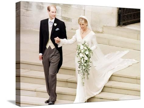 Prince Edward Royal Wedding to Sophie Rhys-Jones--Stretched Canvas Print