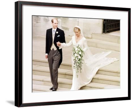 Prince Edward Royal Wedding to Sophie Rhys-Jones--Framed Art Print