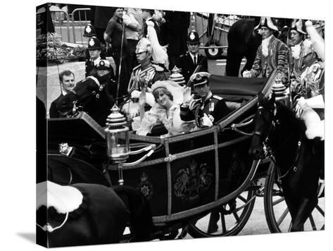 Prince Charles and Lady Diana Spencer Royal Wedding--Stretched Canvas Print