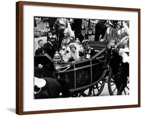 Prince Charles and Lady Diana Spencer Royal Wedding--Framed Art Print