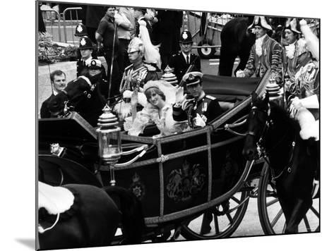 Prince Charles and Lady Diana Spencer Royal Wedding--Mounted Photographic Print