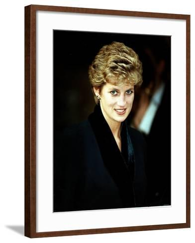 Princess Diana at the Relaunch of Birthright Charity November 1993--Framed Art Print