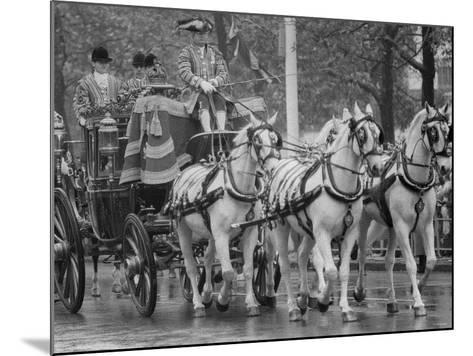 State Opening of Parliament Queen Elizabeth and Duke of Edinburgh Travell in the State Coach--Mounted Photographic Print