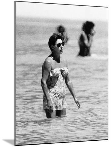 Princess Margaret on Holiday in Mustique Roddy Llewellyn is Staying on the Same Island--Mounted Photographic Print