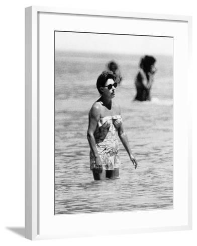 Princess Margaret on Holiday in Mustique Roddy Llewellyn is Staying on the Same Island--Framed Art Print