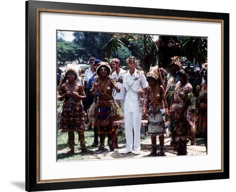 Prince Charles in Papua New Guinea Crowned 10th Lapan of Manus August 1984--Framed Art Print